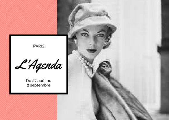 agenda 27 août au 2 septembre